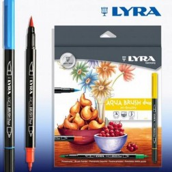 LYRA Aqua Brush Duo - Brush Pen Tips Lettering con Doppia Punta - 12 pezzi Foto2 Piccola