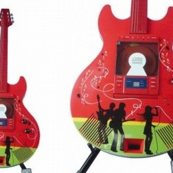 Chitarra cd player rossa