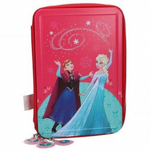 astuccio 3 zip frozen disney in latta