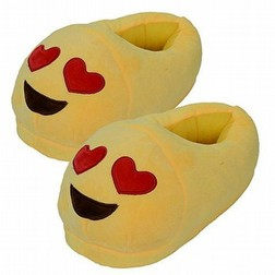 pantofole emoticon cuore