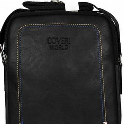 COVERI WORLD Borsello in Pelle Borsa Grande Marrone Nera Tracolla Spalla Porta Cellul