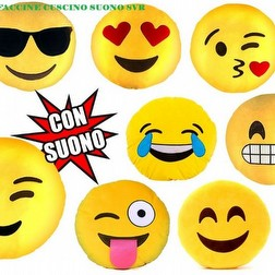 cuscini sonori emoticon faccine diametro cm 30