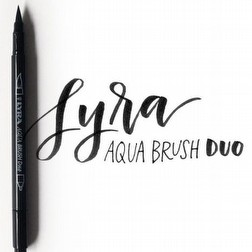 LYRA Aqua Brush Duo - Brush Pen Tips Lettering con Doppia Punta - 12 pezzi