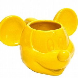 Mickey Mouse Tazza in Ceramica 3D Gialla Topolino disney
