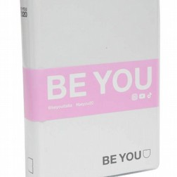 diario be you bianco striscia fuxia