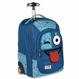 Zaino Trolley Blu Sprint Emoticons Smile