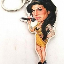 Portachiavi caricature Music Legends Amy Winehouse