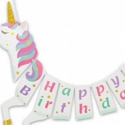 Party Festone Happy Birthday Unicorno Party 55x110