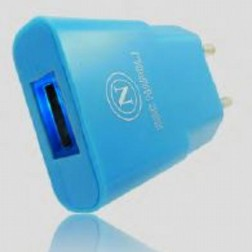 Carica bATTERIE SPINA USB  AZZURRO TRAVEL CHARGER 1A MODEL COMPACT BLUE Foto3 Piccola